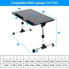 Adjustable Laptop Table Bed Tray Desk Foldable Leg Sofa Notebook Computer Stand