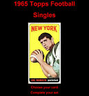 1965 Topps Football Singles ... You Choose Card ... Complete Your Set!