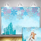 Winter Ice Snowflake Backdrop Frozen Crystal Castle Theme Photography Background