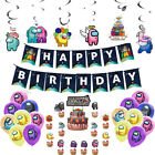 Among Us Balloon Cake Cupcake Topper Birthday Party Decoration Supplies Banner