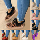 Women's Moccasin Faux Fur Lined Comfortable Slippers Winter Warm Flats Shoes New