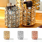 Metal Crystal Makeup Brush Storage Bucket Pen Eyebrow Pencil Organizer Bead Lady
