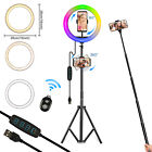 "Selfie LED 10"" Ring Light w/Tripod Stand+ 360°Phone Holder for Video Live Stream"
