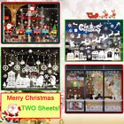 Christmas Santa Removable Window Stickers Art Decals Wall Xmas Home Shop Decor