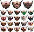 New Unisex Reusable Washable Facemask Half Face Mouth Funny Face Protect Filter