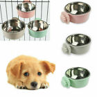 Hang-on Bowl Metal For Pet Dog Cat Crate Cage Foods Water Bowl Stainless Steel