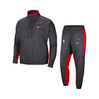 Nike NBA Chicago Bulls City Edition Courtside Tracksuit Men's Grey Red Top Pants