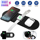 3 IN 1 Qi Wireless Fast Charging Charger Pad Dock for iPhone 12 Samsung Galaxy