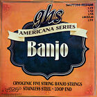 Strings GHS 5 Strings Banjo Medium American S.Strumenti Boucle-Loopend Close-Out