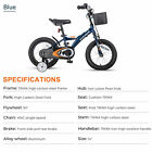 "14"" 16"" Kids Bike Bicycle Adjustable Seat Quadricycle Training Wheel Boy Girl US"