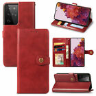 For Samsung Galaxy S21 Plus/S21 Ultra Man's Leather Flip Wallet Stand Case Cover