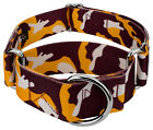 Country Brook Petz® 1 1/2 Inch Burgundy and Gold Camo Martingale Dog Collar