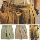 British Men's Gurkha Shorts Loose Herringbone Shorts Casual Shorts Army Pants