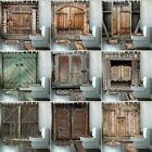 Old Vintage Wood Doors Shower Curtain Toilet Cover Mat Non Slip Rug Home Decor