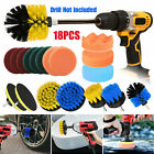 18/12x Drill Brush Set Power Scrubber Attachment For Car bathroom Grout Cleaning