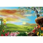 0.9x1.5m Easter Bunny Wall Photography Background Cloth Eggs Florals Theme