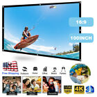 """60""""/100""""/120"""" Portable Foldable Wall Projector Screen 16:9 Home Theater Outdoor"""