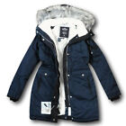 NWT Hollister-Abercrombie&Fitch Women's Cozy Lined Down Parka XS Fur Jacket Navy