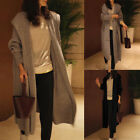 Women Knitted Cardigan Long Sleeve Open Front Sweater Loose Parka Coat Tunic Top
