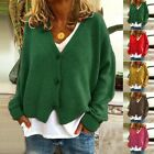 Long sleeve Women's Cardigan Ladies W/ Button Jumpers Sweater Plus Size Fashion