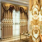 Modern Embroidery Chenille Curtains European Living Room Window Drape Decor Home