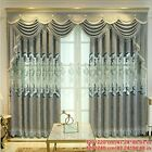 Chenille Window Curtains for Living Room Embroidery Drape Blinds Eyelets Country
