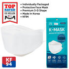 20-100 PCS PLANZERO KF94 Face Mask WHITE 4 Layer Safety Protective Made in Korea