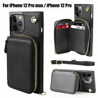 2in1 Crossbody Phone Case Cover Leather Wallet Card Slots for iPhone 12 Pro Max