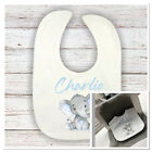💙 personalised bib with cute elephant  perfect gift baby shower cute baby boy