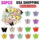 30x Alloy Mixed Assorted Butterfly Pendant Charms DIY Jewelry Random Accessories