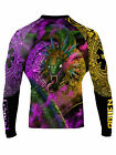 Raven Fightwear Men's Quetzalcoatl Aztec Rash Guard MMA BJJ Black