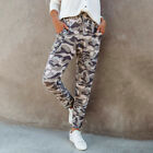 Womens Camo Camouflage Cargo Joggers Trousers Ladies Tracksuit Bottoms Gym Pants