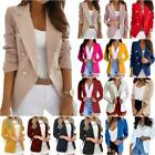 Ladies Slim Fit Blazer Work OL Office Open Jacket Long Sleeve Outwear Suit Coat