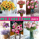 Artificial Silk Flowers Bunch Wedding Party Home Grave In/outdoor Bouquet Decor
