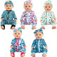 SOTOGO 5 Sets Doll Clothes Outfits Jumpsuits with 5 Headbands for 14 to 17 Inch