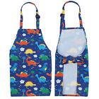 Printing Kids Apron Art Painting Smock Adjustable Kids Cooking Baking Apron
