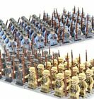 24pcs Military Soldiers France US Britain Army  Weapon Mini figures Toys USA