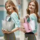 FASHIONABLE Women's first layer genuine leather handbag Bucket bag purse