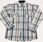 Time is Money rainbow check shirt, hip hop urban retro college plaid oxford top