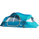 UNP Camping Tent 10-Person-Family Tents, Big, Easy Up, 5 Large Mesh Windows, 2 x