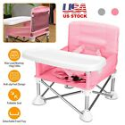 Baby Booster Seat w/ Tray Kid Travel Folding High Chair for Eating Camping Beach
