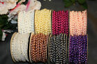 Внешний вид - 24 Ft 4mm Wedding Pearl Bead Garland Rope MANY Colors