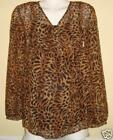 Oh Baby Maternity Animal Print Blouse Retail $36 NWT