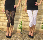 3/4 Length LACE Leggings Black White & Cream Shop price £18  6-24