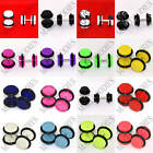 """V011 Fake Faux Cheaters Illusion Ear Plugs Earrings 16G Look 4G 2G 0G 00G 1/2"""" image"""