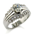 #01121 AAA CZ SOLITAIRE RHODIUM PLATING BRASS RING 8 10