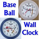 BASEBALL WALL CLOCK Pitcher Field bases bat glove cap game sport ball short NEW