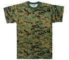 T Shirt Mens Marine Woodland Digital Camo Tee USMC Poly/Cotton