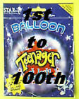 """18"""" helium foil balloon 1st - 100th birthday party"""