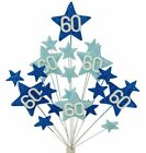 BLUE BIRTHDAY CAKE TOPPER DECORATION:18th,21st,30th,40th,50th,60th,70th,80th,90